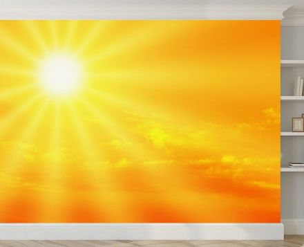 The Sun - orange sky wall mural